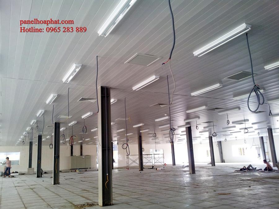Lắp khung trần, vách phòng sạch và lắp ghép nhà điều hành nhà xưởng bao bì Trung Kiên II_ Hải Dương
