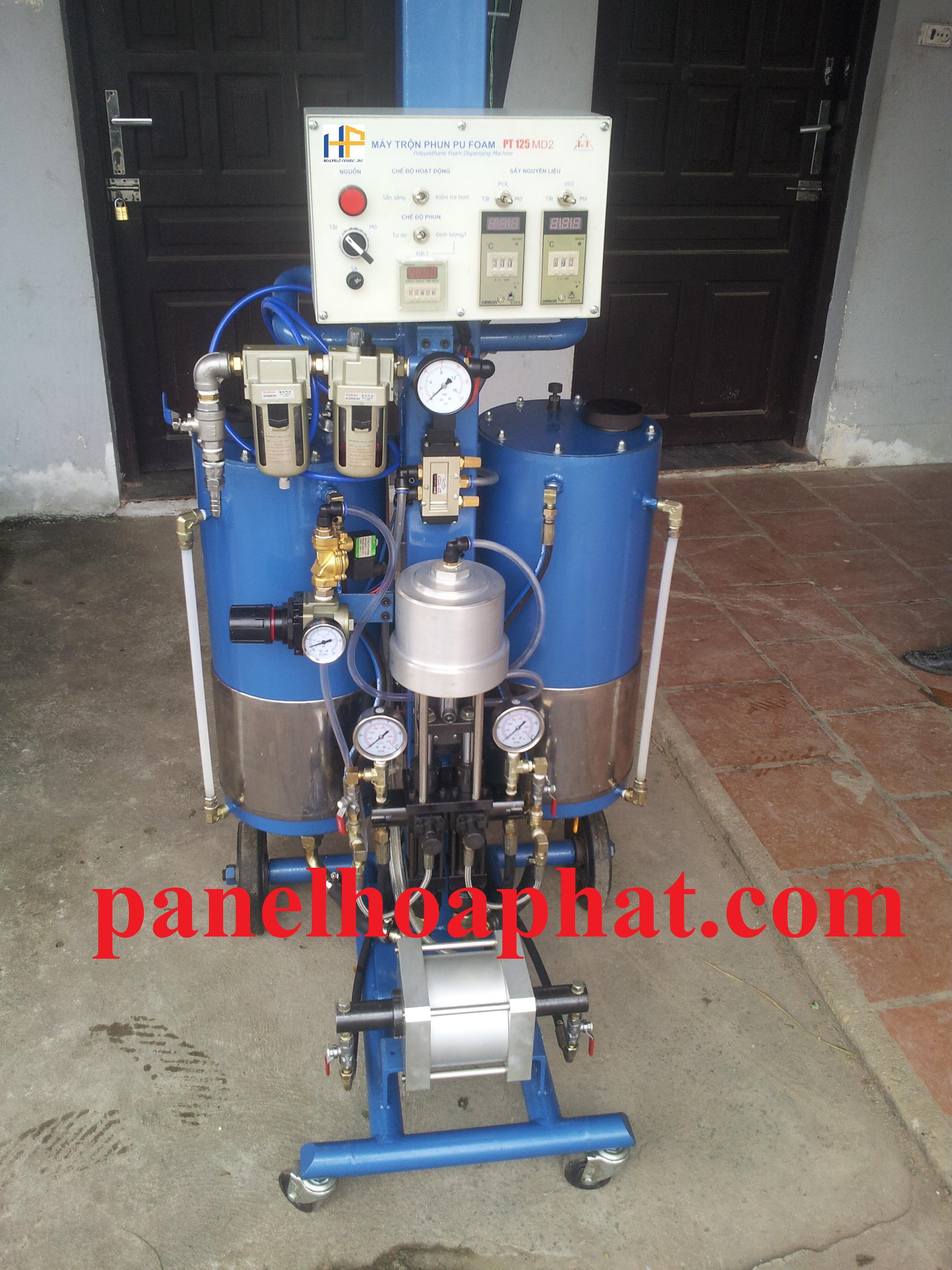 Nguyên lý hoạt động của máy phun PU áp suất thấp